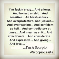 Scorpio Traits, Scorpio Season, Jealous, 18th, Cards Against Humanity, Stars, Quotes, Quotations, Scorpio Characteristics