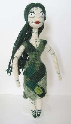 "Free pattern for ""Patch Doll"" by Irene Strange! ... whaaaaat?! Hell yes I am ... now I just need to find jack .. and the mayor .. and lock shock and barrel ... and oogie ..."