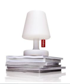 Fatboy Petite Lamp diffused light to create intimate setting.