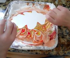 Shaving cream painting - could do this with blank pieces of paper to use for future art projects, hearts for valentine's day, only blues for a winter sky, only greens for grass, so many ideas Fall Arts And Crafts, Holiday Crafts, Autumn Activities, Art Activities, Shaving Cream Painting, Art For Kids, Crafts For Kids, Fall Art Projects, Fall Preschool