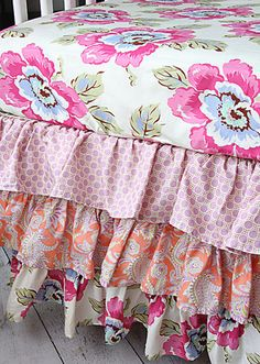 Georgia Anne's bedding-Caden Lane Primrose ruffle crib bedding :-)