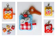 cute owl key rings from piep kids