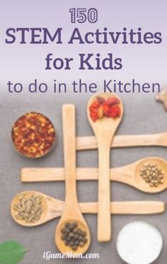 Over 150 STEM (science technology math engineering) activities for kids that you can do in your kitchen, with easy to find materials and amazing effects. Great resource for quick science project ideas either at home or at school, or science fair.