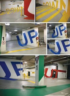 Designers have been enlisted to create something special out of something as utilitarian as a parking lot. Above is the Eureka Car Park in Melbourne, Australia. Drivers know when they're aimed in the right direction only when the clever optical illusion lettering is exactly lined up. 15 Creative, Innovative & Hilarious Parking Solutions
