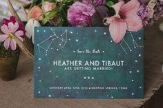 starry save the date
