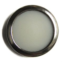 """Silver Ring Button With White Center 3/4"""""""