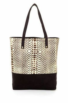 95a09685d839 Cynthia Vincent Ex Boyfriend Printed Canvas Tote Bag by Bold For Spring:  Handbags on