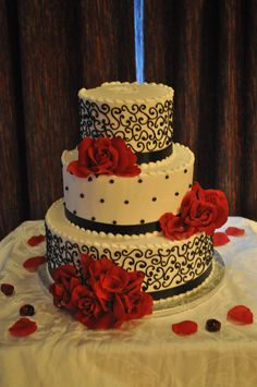 Black and Red Cake Created by the PA Bakery
