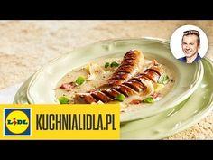 Barszcz chrzanowy z pieczoną białą kiełbasą - Karol Okrasa - przepisy Kuchni Lidla - YouTube Chef And The Farmer, Kaito, Tacos, Mexican, Chicken, Meat, Ethnic Recipes, Youtube, Food