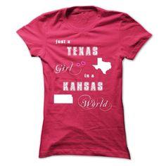 TEXAS GIRL IN A KANSAS WORLD T-SHIRTS, HOODIES, SWEATSHIRT (24$ ==► Shopping Now)