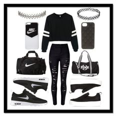 """""""Going To The Gym"""" by jessicalouisefirth ❤ liked on Polyvore featuring River Island, NIKE and Assya London"""