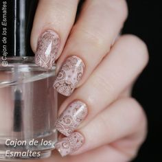 Bundle Monster - Shangrila Floral paisley nail art pattern