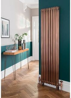 The Radiator Company Ancona Steel Galvanised Vertical 2 Column Radiator 1800mm x 564mm