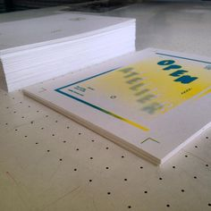 two colour silkscreen printed flyer for a open atelier at #atelier-haven