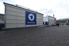 Temporäres TV Studio für die ARD.