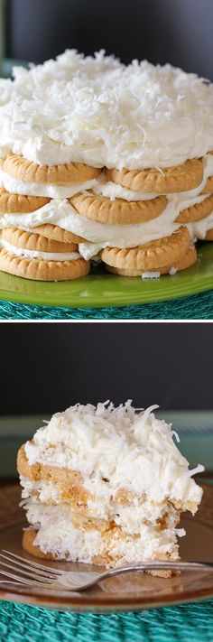 No-Bake Coconut Icebox Cake: It's a coconut cake for the masses. Too lazy to bake? Too hot to bake? Too busy to bake? This is your coconut cake. Lucky you, because it's also totally insanely delicious. Enjoy!