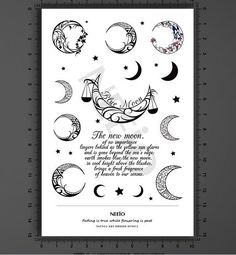 Moon-and-star-English-line-temporary-tattoo-shoulder-ankle-arm-leg-neck-finger-back-wrist-tattoos.jpg (526×569)