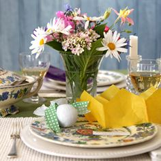 Don't be afraid of introducing colour to the table - Annabel Langbein Cooking Tv, Table Scapes, Easter Celebration, Free Range, Quick Easy Meals, Celebrations, Kitchen Ideas, Table Settings, Gardens