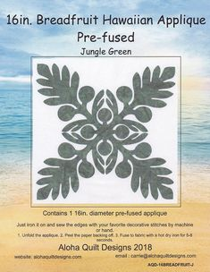 Hawaiian Quilt Patterns, Applique Quilt Patterns, Hawaiian Quilts, Honeysuckle Rose, Green Quilt, Quilt Kits, Stencils, Daisy, Quilting