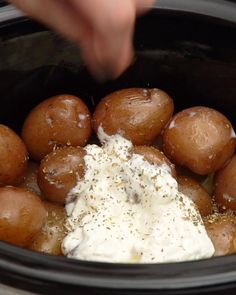 The secret to deliciously creamy, fluffy, perfect-every-time mashed potatoes? Ken's Blue Cheese Dressing. The secret to deliciously creamy, fluffy, perfect-every-time mashed potatoes? Ken's Blue Cheese Dressing. Veggie Side Dishes, Vegetable Dishes, Vegetable Recipes, Potato Recipes, Slow Cooker Recipes, Crockpot Recipes, Cooking Recipes, Vegetarian Recipes, Cheese Mashed Potatoes