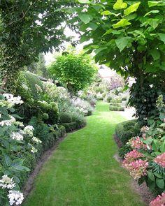 804 Likes, 10 Comments - Gardens and Architecture ( on. 804 Likes, 10 Co Perennial Geranium, Hydrangea Garden, Hydrangeas, Garden Leave, Geraniums, Beautiful Gardens, Perennials, Sidewalk, Landscape