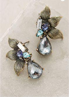 night bloom drop earrings