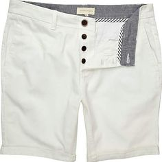 white shorts - casual shorts - shorts - men - River Island