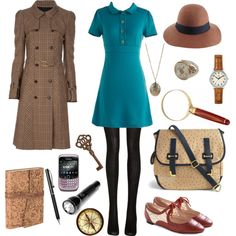 Designer Clothes, Shoes & Bags for Women Quirky Fashion, Cute Fashion, Vintage Fashion, Fashion Outfits, Nancy Drew Costume, Beautiful Outfits, Cute Outfits, Cosplay Outfits, Polyvore Outfits
