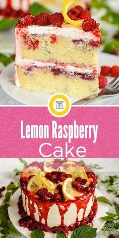 This fresh lemon raspberry cake is packed full of lemon flavor but my favorite part is the fresh raspberry filling swirled throughout the cake and the yummy bites of raspberries! flavors Lemon Raspberry Cake With Raspberry Filling Keto Desserts, Just Desserts, Delicious Desserts, Cake Fillings, Cake Flavors, Cupcakes, Cupcake Cakes, Cake Recipes, Dessert Recipes