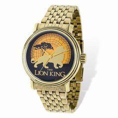 Adult Size Disney Antique Gold-tone Lion King Watch