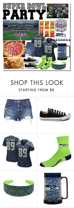 """""""NFL Seahawks"""" by cultuerd-stylish ❤ liked on Polyvore featuring interior, interiors, interior design, home, home decor, interior decorating, Michael Kors, Topshop, Converse and NIKE"""