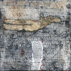 Die Windsbraut - Gemengde techniek op doek - 50 x 50 cm - 2008