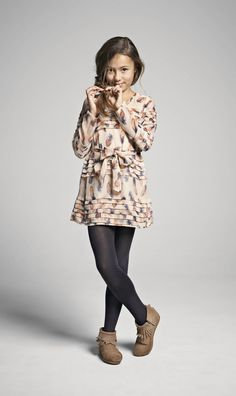 moccasins and tights -