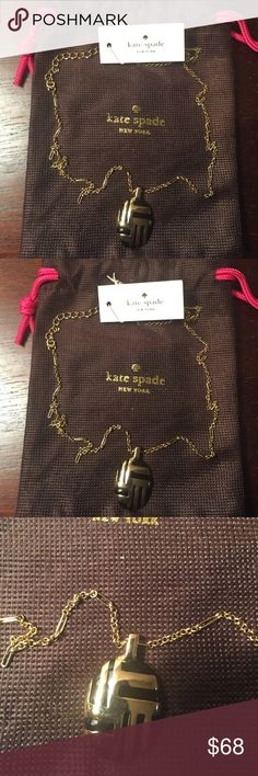 "Kate Spade New York Gold-Tone Pendant Necklace Beautiful Kate Spade New York Gold-Tone Pendant. Complete with an exquisite pendant, this gorgeous necklace lends a unique look like no other! Wear it with your favorite outfits for an extra special pop of sophistication. Necklace is 17"" in length, lobster closure and gold-tone metal. New with tag. kate spade Jewelry Necklaces"