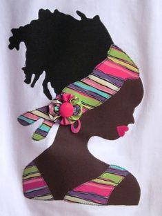 Black Girl Art, Black Women Art, Black Art, African Artwork, African Paintings, T Shirt Painting, Fabric Painting, African Beauty, African Women