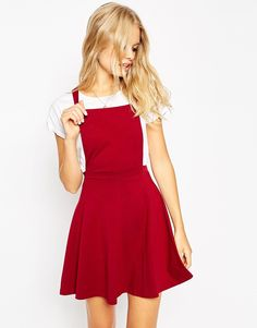 Image 1 of ASOS Pinafore Dress