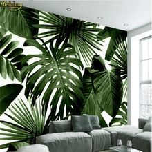 Beibehang Personalized Photo Retro Wallpaper Tropical Forest Palm Banana 3D Leaves Wall Coffee Restaurant Theme Hotel Backdro (China)