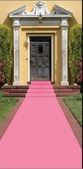pink carpet runner for your princess and her guests