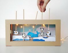Create a charming shoebox puppet theater with working lights. It's a blast to make and perfect for impromptu imaginative play, even after the lights go out. http://hative.com/diy-ideas-with-recycled-shoe-box/