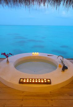 Jacuzzi at The Island Hideaway resort, Maldives Dream Vacations, Vacation Spots, Romantic Vacations, Italy Vacation, Oh The Places You'll Go, Places To Travel, Resorts, Paradis Tropical, Beach Houses