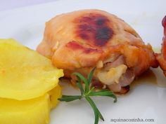 frango-com-laranja-e-alecrim Cantaloupe, Shrimp, Turkey, Low Carb, Tasty, Chicken, Meat, Fruit, Food