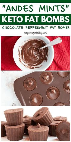 "These ""Andes Mints"" copycat keto fat bombs really do taste like the candies that you know and love. Also known as Chocolate Peppermint Fat Bombs, these easy keto snacks and keto desserts are perfect when you're looking for"