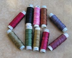 They are so pretty and the new shipment with individual spools just arrived.