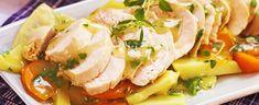 Saftig kyllingkjøtt som «svømmer» på en seng av ferske smakfulle rotgrønnsaker er velegnet til å samle familien til søndagsmiddag i august.