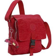 Kipling Lancelot Shoulder Bag Red Cross Body ❤ liked on Polyvore featuring bags, handbags, shoulder bags, red crossbody purse, kipling, crossbody purse, red crossbody and red purse