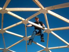 geodesic dome connectors to build your own out of wood. Great for building a play structure -- or a greenhouse
