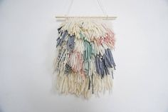 Woven Wall Hanging Shaggy Wall Hanging Woven Wall Tapestry