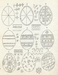 Diasporan 1950s pysanky pattern sheet PDF