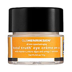 everyone says you should start using eye cream in your 20s...so I'm in the market for daytime and nighttime eye creams...  one to try for day?  Ole Henriksen - Total Truth™ Eye Crème SPF 15