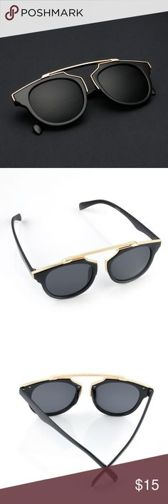 🆕the metallic bar aviator sunglasses • style name: the metallic bar aviator sunglasses • color: black & gold • material: plastic w/ metal accents • metal bar & accents are glossy/shiny gold, not matte as they may appear in photos • condition: brand new boutique item ____________________________________________________ ✅ make an offer!     ✅ i bundle! ✅ posh compliant closet ⛔️ no trades 🛍 boutique items Accessories Sunglasses